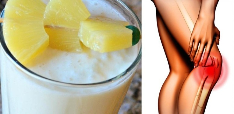 Cinnamon Pineapple Smoothie To Strengthen Knee Ligaments And Tendons!