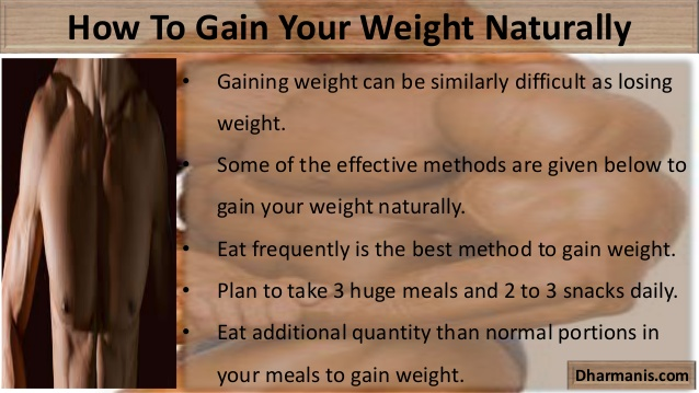 Methods to Gain Weight Naturally