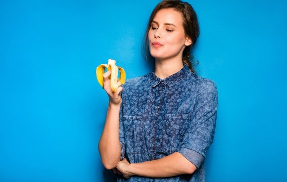 Mindfully Eating Banana